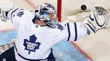 Toronto goaltender James Reimer #34 has given Maple Leafs fans renewed hope. (Photo by Christian Petersen/Getty Images) (Christian Petersen/2011 Getty Images)