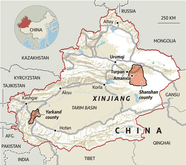 The Globe in Xinjiang China A page from Mao to reeducate