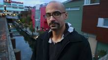 Author Junot Diaz poses for a photo on Granville Island in Vancouver, B.C. October 17, 2012. (Jeff Vinnick For The Globe and Mail)
