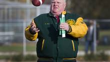 Mayor Rob Ford's Don Bosco Eagles defeated the Northern Red Knights 31-0 in the Metro Bowl Qualifier played at Birchmount Stadium in Toronto. (Peter Power/The Globe and Mail)
