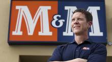 Andy O'Brien, the new CEO of M&M Meats, is photographed at a store in Kitchener, Ont. (Peter Power for The Globe and Mail)