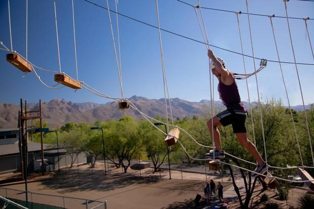 A ropes course at Canyon Ranch.