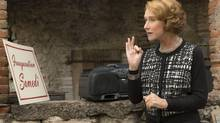 """Madame Mallory (Helen Mirren), the chef proprietress of Le Seule Pleurer Restaurant in DreamWorks Pictures' charming new film """"The Hundred-Foot Journey."""" (Francois Duhamel)"""