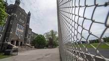 Razor Management has exclusive rights to rent out the playing field at Monarch Park Collegiate Institute. The company is seeking a similar deal at Central Technical School, pictured here on May 21. (Fred Lum/The Globe and Mail)