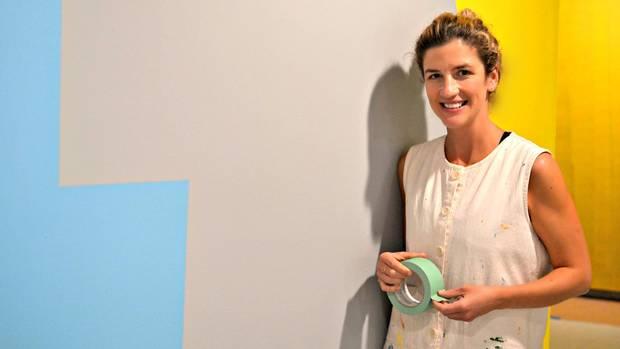 Leah Rosenberg is seen at her exhibit, Everyday, A Colour, at Kenderdine Art Gallery in Saskatoon.