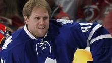 Toronto Maple Leafs forward Phil Kessel hints at Sunday practice that he and coach Ron Wilson have a rocky relationship. REUTERS/Ellen Ozier (ELLEN OZIER)