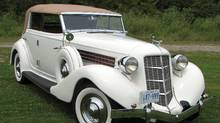 1935 Auburn 851 Phaeton was powered by a 115 hp, inline, eight-cylinder, and side-valve engine with three-speed gearbox.