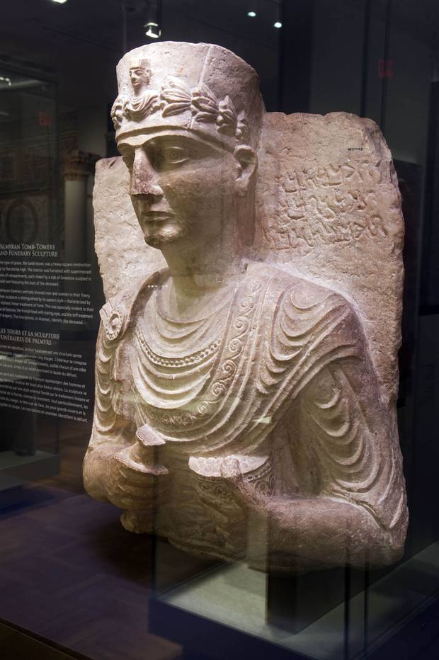 An artifact from ancient Palmyra in the Royal Ontario Museum's permanent collection.