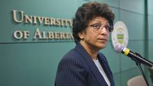 University of Alberta President Indira Samarasekera. (John Ulan/THE CANADIAN PRESS)