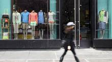 Lululemon was forced to issue a worldwide recall of black yoga pants in March over concerns that the fabric was too sheer. (Mary Altaffer/The Associated Press)