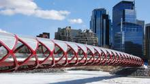 The 85-ton bridge drew its share of criticism because of its $24.5-million price tag, construction delays and procurement process. (The City of Calgary)
