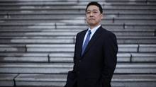 Japan Oil,Gas and Metals National Corporation (JOGMEC) General Manager Keisuke (Kay) Tsujimoto is photographed on the steps of the Legislative Building in Victoria, February 19, 2014. B.C. needs to get its act together on LNG, he warns. (CHAD HIPOLITO/THE GLOBE AND MAIL)
