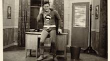 Peppiatt and Aylesworth's first CBC TV comedy sketch found Peppiatt in a homemade Superman costume.