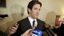 Brendan Shanahan speaks to reporters during the NHL General Managers' annual fall meeting in Toronto, Ont. Tuesday, November 9, 2010. (The Canadian Press)