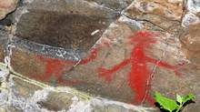 Chehalis pictograph of a sasquatch believed to be between 2,000 and 3,000 years old. (Mark Angelo/ The Globe and Mail/Mark Angelo/ The Globe and Mail)