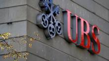 A logo of the Swiss banking giant UBS is seen at its main headquarters on September 15, 2011 in the center of Zurich. UBS revealed that a rogue trader had lost an estimated $2.0 billion (1.46 billion euros) in unauthorised trades, and that it may plunge into the red as a result. (FABRICE COFFRINI/AFP/Getty Images)