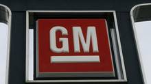 A General Motors logo is seen at a car dealership in Toronto. (MIKE CASSESE/MIKE CASSESE/REUTERS)