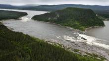 An aerial view of Muskrat Falls, on Labrador's Churchill River. (Paul Daly/The Globe and Mail/Paul Daly/The Globe and Mail)
