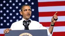 U.S. President Barack Obama speaks in Denver on Oct. 26, 2011. (JEWEL SAMAD/AFP/Getty Images)