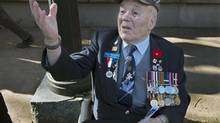 Juno Beach veteran Gerry MacDonald attends Remembrance Day ceremonies at the Grand Parade in Halifax on Sunday, Nov. 11, 2012. (Andrew Vaughan/The Canadian Press)