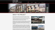 Screen grab from RioCan website outlining Bathurst street project