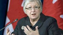 Auditor-General Sheila Fraser holds a news conference in Ottawa on Oct. 26, 2010. (Adrian Wyld/THE CANADIAN PRESS)