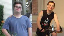 Max Owen before and after his 44-pound weight loss