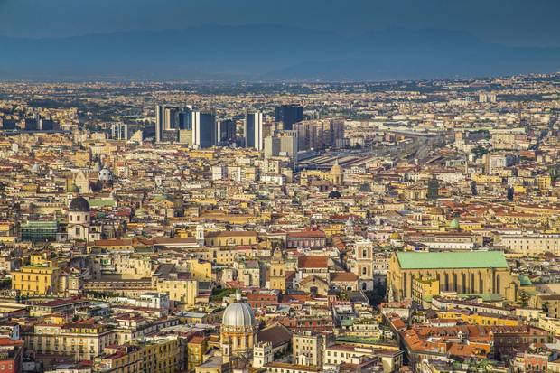Aerial view of the city of Napoli (Naples)