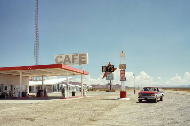German photographer Ralph Graf wins the Travel category for his photo along Route 66 of Roy's Cafe, gas station and motel in Amboy, California.