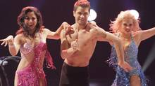 Cristina Santana (L), Pasha Kovalev (C) and Anya Garnis (R) in an episode of So You Think You Can Dance. (Globe files/Globe files)