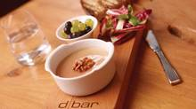 The dbar at The Four Seasons Toronto has an elegant and extensive menu.