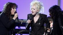 Maria Muldaur (L), Cyndi Lauper (C) and Betty Wright perform at the 53rd annual Grammy Awards in Los Angeles, California February 13, 2011. (LUCY NICHOLSON/Lucy Nicholson/Reuters)