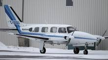 A Keystone Air Service eight-seat Piper PA-31 Navajo sits at St. Andrews Airport, just north of Winnipeg, on Jan. 10, 2012. (Trevor Hagan/The Canadian Press/Trevor Hagan/The Canadian Press)