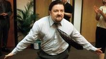 Ricky Gervais, co-creator of Britain's 'The Office' plays David Brent, who would have driven viewers to riot had his self-aggrandizing shtick lasted 10 seasons. But for two seasons, it was comedy gold. (BBC Worldwide/AP File)