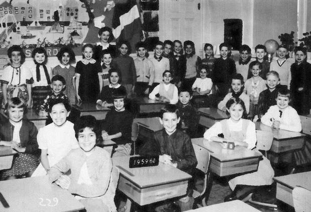 A classroom photo, 1959-1960.