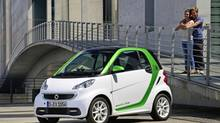 The Smart Fortwo electric drive is quicker than its gas cousin, but is also much more expensive. (Daimler AG)