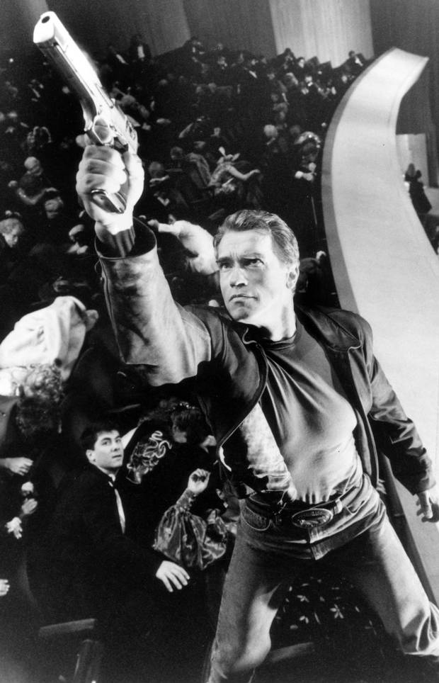 Arnold Schwarzenegger in Last Action Hero.