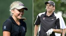 Brooke Henderson and Corey Conners