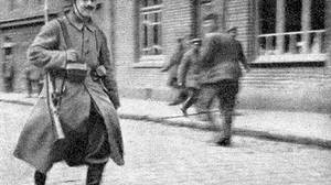 Hitler, seen here in a rare picture taken in Fournes, near Lille, France, in 1915. This was the only photo of Hitler included in the official 1932 regimental history of the List Regiment.