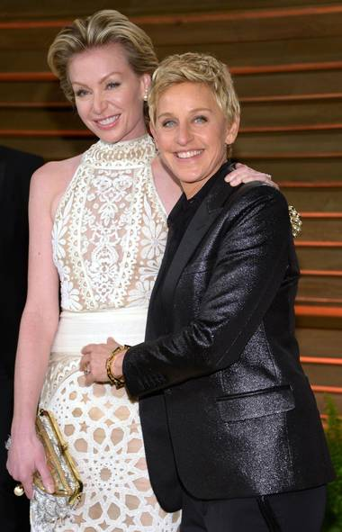In today's Hollywood, you're only as important as the party you attend after the Oscars. As always, the annual Vanity Fair soiree is considered the top of the celebrity food chain, which accounts for A-list invitees such as Oscar host Ellen DeGeneres and partner Portia de Rossi. (Evan Agostini/Invision/AP)