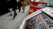 Sun Media is cutting 200 jobs, including about 50 in editorial. (Deborah Baic/The Globe and Mail)