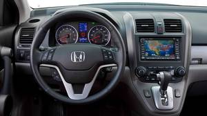 The cockpit of the 2010 Honda CR-V EX-L.
