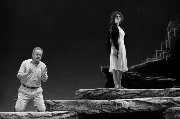 Eric Peterson and Stavroula Logothettis in Atlantis, directed by Steven Schipper, in 1996.