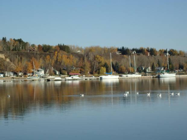 The harbour on Wabamun Lake.