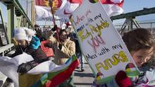 Demonstrators at a Halifax Idle no More protest earlier this month. Later this year, the Conservatives plan to introduce the First Nations Education Act. (Andrew Vaughan/THE CANADIAN PRESS)