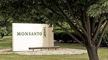 A sign at the Monsanto Co. headquarters located in St. Louis, is seen in this file photo. (JAMES A. FINLEY/AP)