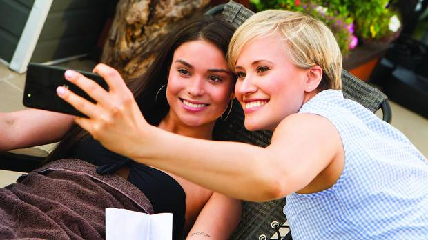Jennifer Pudavick (Bailey), left, and Brittany Leborgne (Zoe) in Mohawk Girls.
