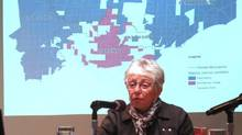 Anne Golden, former head of the Conference Board of Canada, leads a discussion on Rob Ford on May 16, 2014 at the Woodrow Wilson centre in Washington. (Alexander Panetta/The Canadian Press)