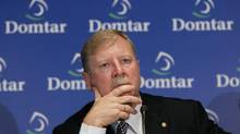 Domtar's president and CEO John Williams speaks to the media following the pulp and paper company's annual shareholders meeting in the Montreal, May 4, 2011. (SHAUN BEST/REUTERS)