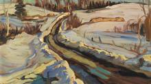 Detail from Alexander Young (A.Y.) Jackson's painting, Road Near Eganville (1958), with an estimated price of $12,000 to $16,000, according to Heffel Fine Art auction house before its fall auction in Toronto in 2013. (Heffel Fine Art auction house)